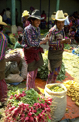 NUMINOUS-STOCK PHOTOS-Mayan Men w radishes,Guatemala;ROYALTY-FREE ...