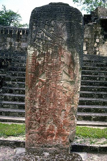 INTUIT-STOCK PHOTOGRAPHY-Maya City of CEIBAL(seibal)Peten GUATEMALA,STELA #11;ROYALTY-FREE ...