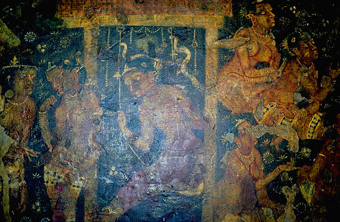 Regenerative stock photography paintings indian art ajanta for Ajanta mural painting