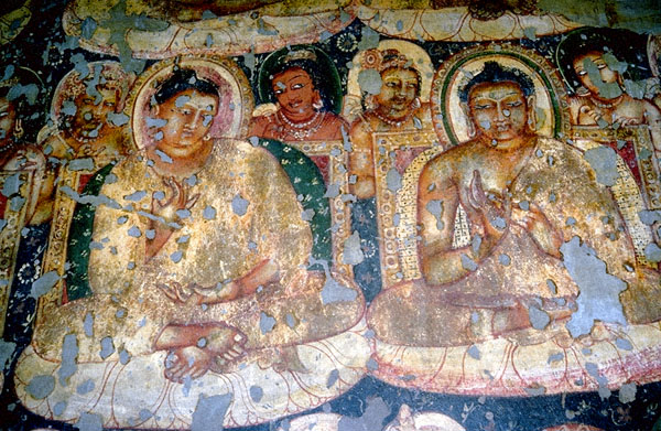 Perspicuous stock photography paintings indian art ajanta for Ajanta mural painting